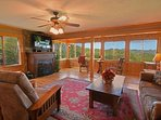 Views,  views, views!  Gas fireplace - Large Flat Screen Tv - High speed internet!