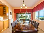 Dining area on the ground floor with direct access to the pool and garden!