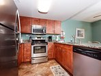 Fully equipped spacious kitchen. Upgraded stainless steel applia