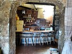 Archway through to the kitchen