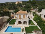 aerial photo of Luxury stonemade Villa Rubini