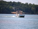 Pontoon Boat Rental available with house. Boat stays at dock