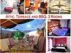 Apartment, Private Tarraza BBQ, near Barcelona 3 Bedrooms. VF