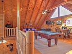 Loft with pool table, foosball and more!