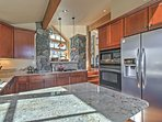 Utilize the fully equipped kitchen to prepare your favorite meals.