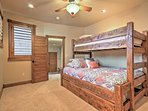 With a brand new Twin XL over Queen bunkbed, plus a twin trundle bed, this room is perfect for the kids or for a couple...