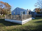 Deck offers gas grill and outdoor furniture will be in place this summer - 10 Homer Road Harwich Port Cape Cod New...
