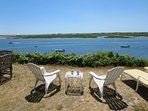 View from the bluff to Stage Harbor Lighthouse - 30 Seabeach Road Chatham Cape Cod New England Vacation Rentals