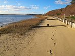 The beach below. Leave nothing but your footprints in the sand behind - 30 Seabeach Road Chatham Cape Cod New England...