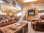 Warm up under the bright skylights as you enjoy the 37' flat screen TV with DVD.