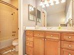 Master en suite bath with separate vanity.