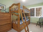 Bedroom 3 is the perfect kid getaway with twin over twin bunks plus twin trundle and 19' flat screen TV.
