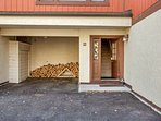 Welcome!  We provide plenty of firewood for the wood burning fireplace.