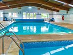 Relax in this lovely heated indoor pool after your tiring journey