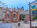 Relax in this lovely bistro after your journey or a treat  if you want a break from self catering .