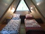 sur demande: Possibilité d'installer le lit en 2 lits jumeaux