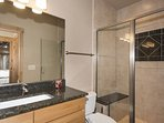 Lower Level Hall Bath With Large Shower/Seat