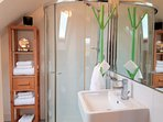 All ensuite bathrooms are bright, spacious, have large showers, lots of towels and great views!