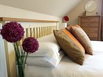 Bedrooms have crisp white linen and are calm and relaxing.