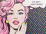 The theme for Selfie is retro. Pop Art depicts comic book characters in selfie mode.