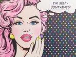 A pop art selfie theme adds some fun.