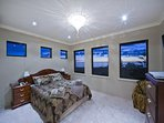 Upstairs Bedroom with views to the ocean and horizon