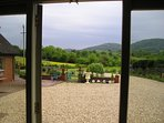 View from the studio to the Malvern hills