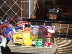 Generous complimentary welcome basket, special condiments on request