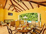 Enjoy breakfast at the patio with lots of privacy and jungle view.