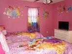2nd Floor Disney's Princess Twin Bedroom with Flat Screen TV