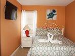 2nd Floor Queen Bedroom with Flat Screen TV - 2
