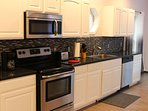 Brand new stainless steel appliances and everything you need to cook