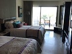 Guest room has 2 Queen beds and private verandah and full bathroom.