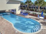 A second heated pool is available for cooler days.