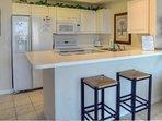 Enjoy the fully stocked kitchen!