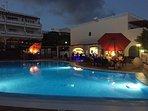 Small swimming pool and pool bar