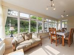 The Orangery where guest enjoy breakfast and are welcome to relax.