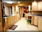 Large kitchen in lodge