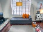 This CB2 sofa opens into 2 single mattresses