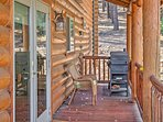 The patio and deck offers amazing views of the mountains and natural landscape!