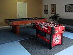 Game Room with Billiard Table and Foosball Table