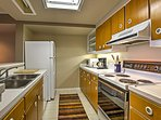 You'll love having the ability to prepare your favorite snacks and meals in the fully equipped kitchen.