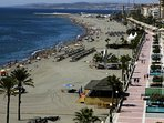 Estepona Beach and Promenade with lots of restaurants and cafés is less than 10 minutes away