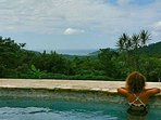 View overlooking the bay of San Juan Del Sur.