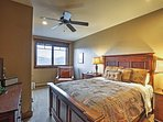 The master bedroom will help you have a restful night's sleep.