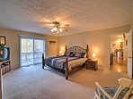 The master bedroom's king-sized bed will allow you to enjoy a restful night's slumber every night.