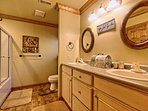 'Upstairs Bathroom with His & Hers Sinks'