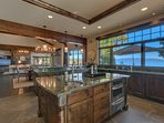 The beautiful counters are what you'd expect, but the views from the kitchen you probably would not.
