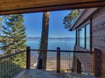 Get an even better view out on the adjacent private deck.
