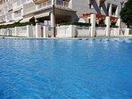 Our Las Dunas Javea ground floor poolside apartment.